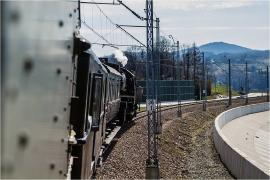 Odjazd zabytkowego pociągu